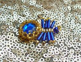 Jewel spider - Blue by TrinaElaine
