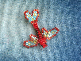 Butterfly winged fish - Red by TrinaElaine