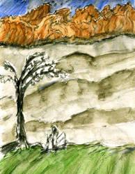 [Tranquility] Mountain on the horizon by GilgaPhoenixIgnis