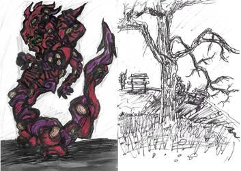 [Sketchbook] Monster and Park