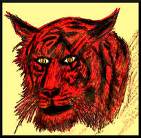 [Animal] Tiger head by GilgaPhoenixIgnis
