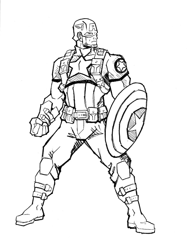 Line Drawing Usa : Captain america by atelierlambert on deviantart