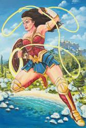 Wonder Woman Oil Painting