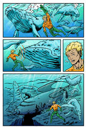 Aquaman Page 1 - DC Talent Search 2017 Submission by AtelierLambert