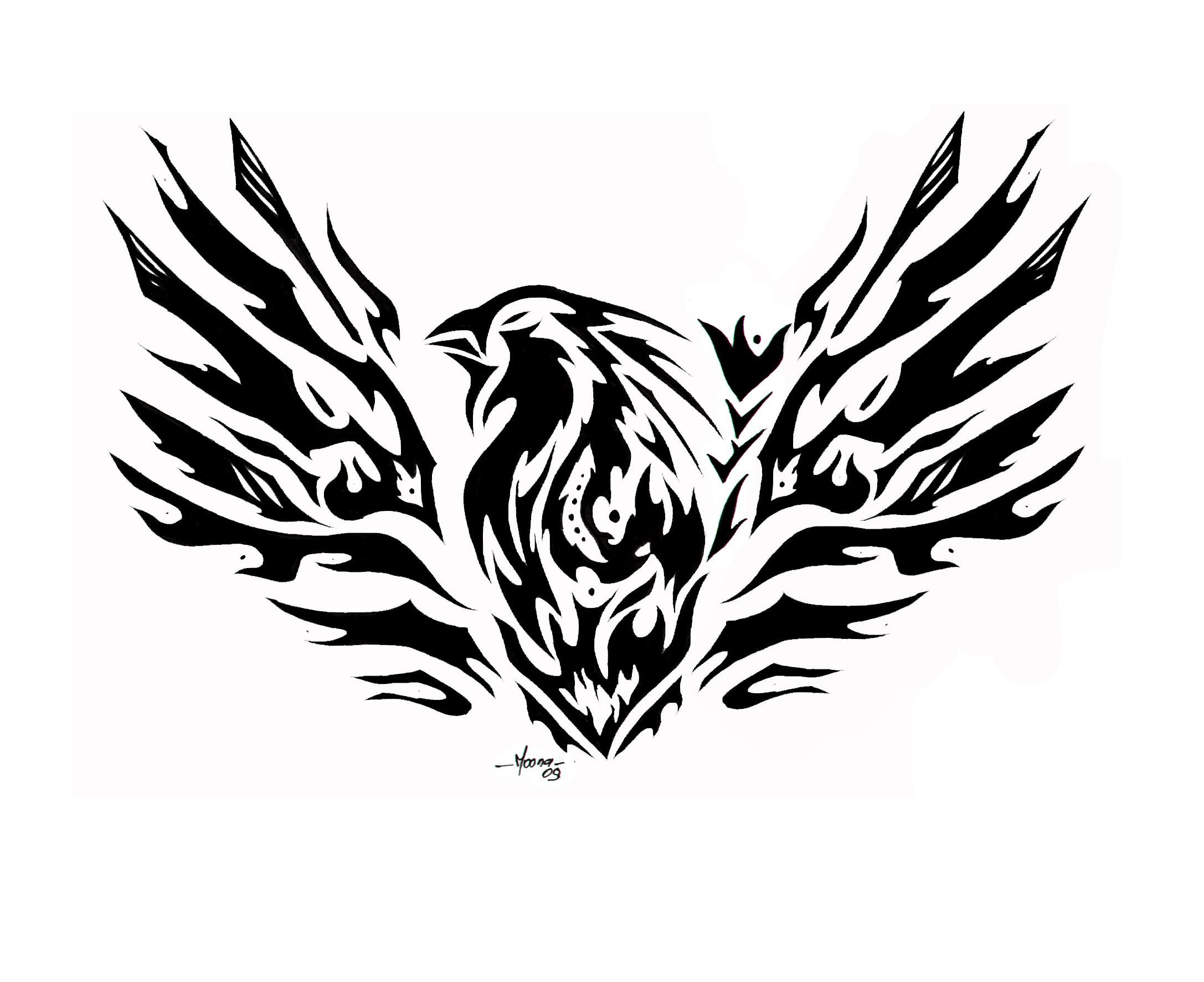 Mexican Eagle Tribal Tattoo Design