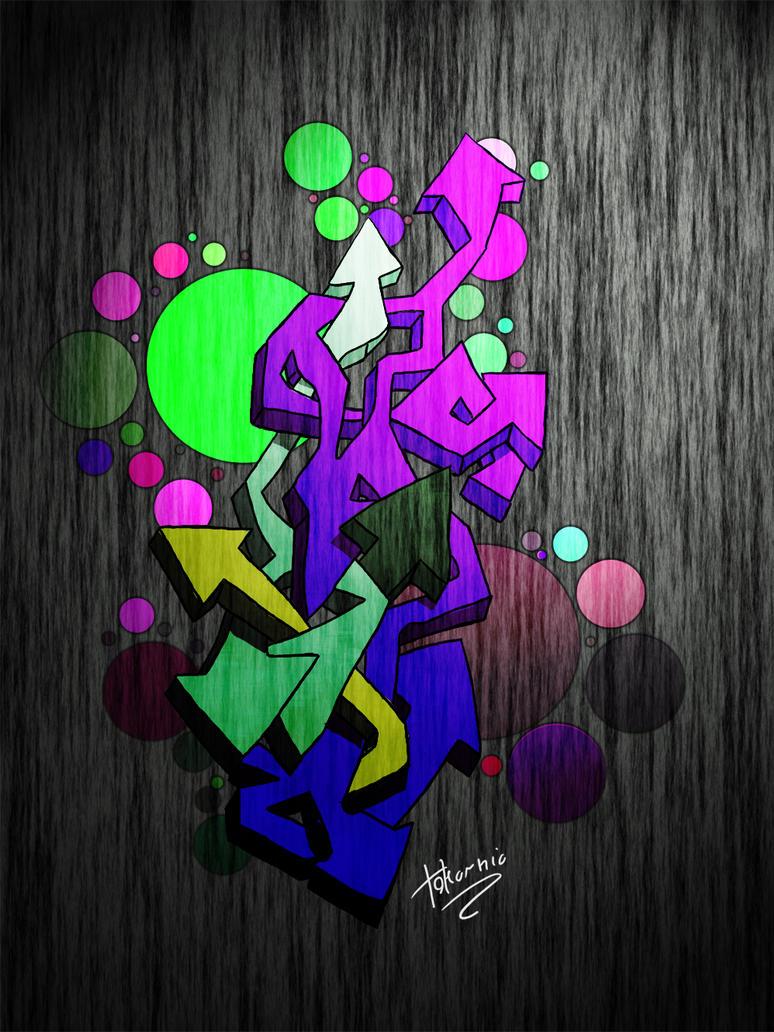 Graffiti wildstyle by tokarnia