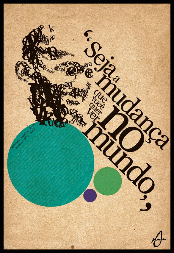 Gandhi Poster by tokarnia
