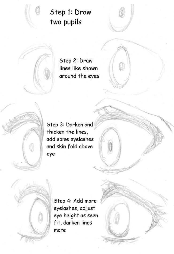 How to draw anime girl eyes by xxlightkiral17xx