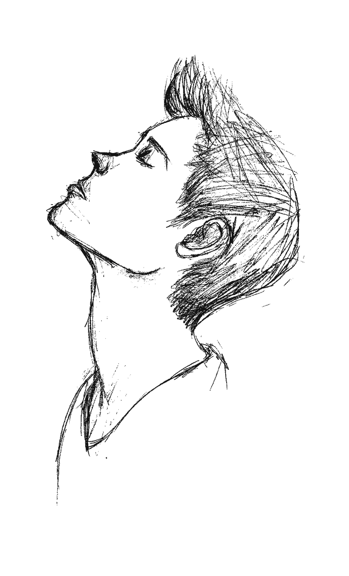 Line Drawing Of Face Profile : Boy face side profile by raqib on deviantart