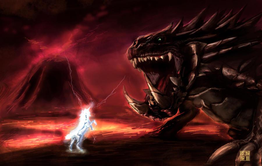 MHFU(Monster Hunter Freedom Unite) - Page 2 MH2__Kirin_vs_Akantor_by_eronzki999