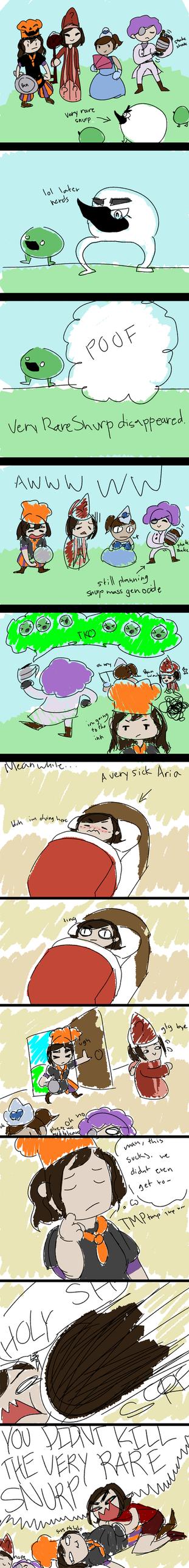 (Slight Miitopia spoilers) The Very Rare Snurp by RainstormArt