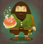 Hagrid in Harry Potter cartoon