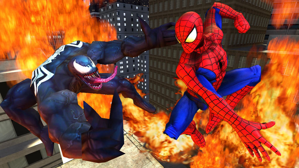 Spidey vs Venom (SFM) by Name-Changer