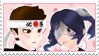 Yandere Simulator stamp: Sho Kunin x Supana Churu by Nyan-rabbit