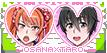 Yandere Simulator stamp: Osana x Taro by Nyan-rabbit