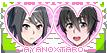 Yandere Simulator stamp: Ayano x Taro by Nyan-rabbit