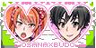 Yandere Simulator stamp: Osana x Budo by Nyan-rabbit