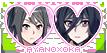 Yandere Simulator stamp: Ayano x Oka