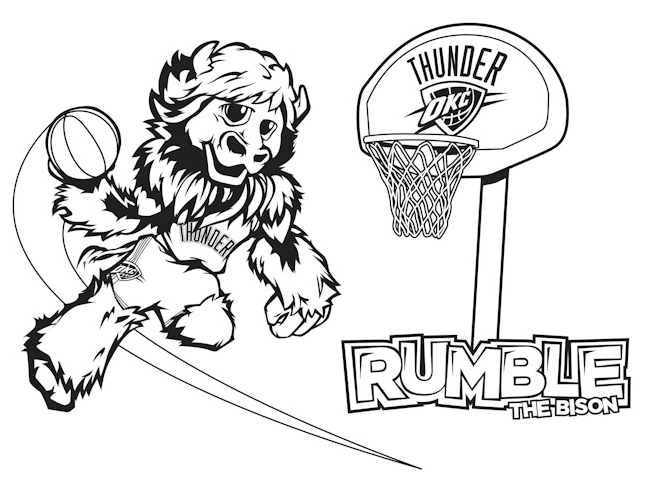 Oklahoma City Thunder Coloring Pages - Learny Kids
