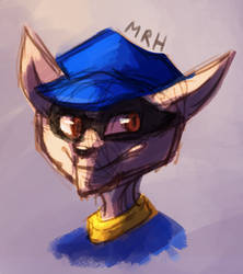 Sly Cooper Headshot by Inudoragon23