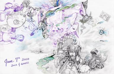 2013 Collab - side B by goatz