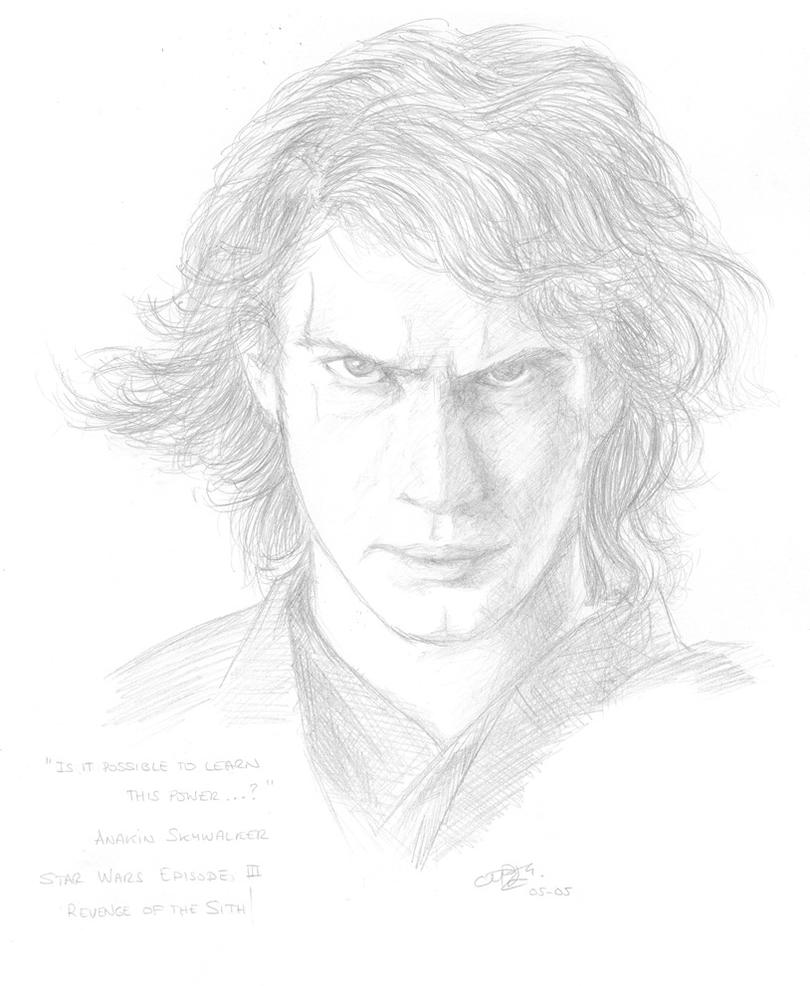 how to draw anakin skywalker easy
