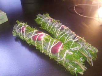 Juniper and Rosemary Smudge Sticks
