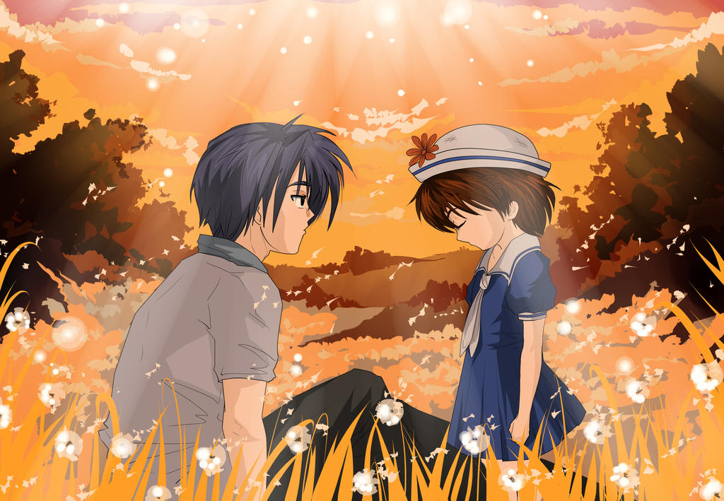 Tomoya And Ushio By Horomi Chan Art On Deviantart