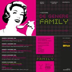 de genere family - flyer