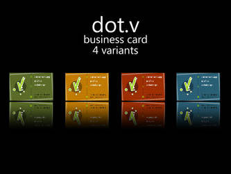 dot.v Business Card variations by ficod