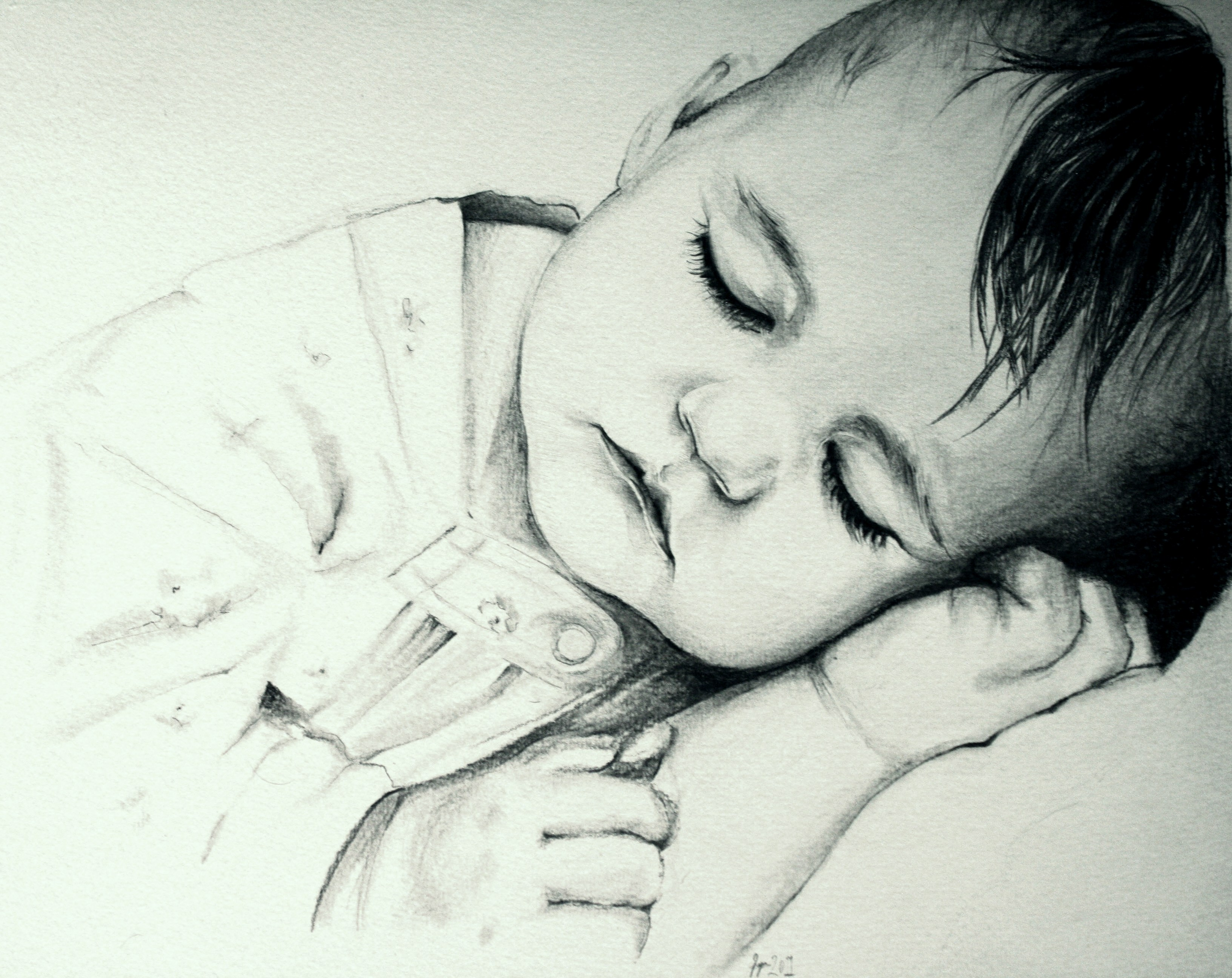 sleeping baby by beuty...