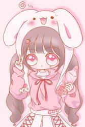 Strawberry Yogurt Bunny