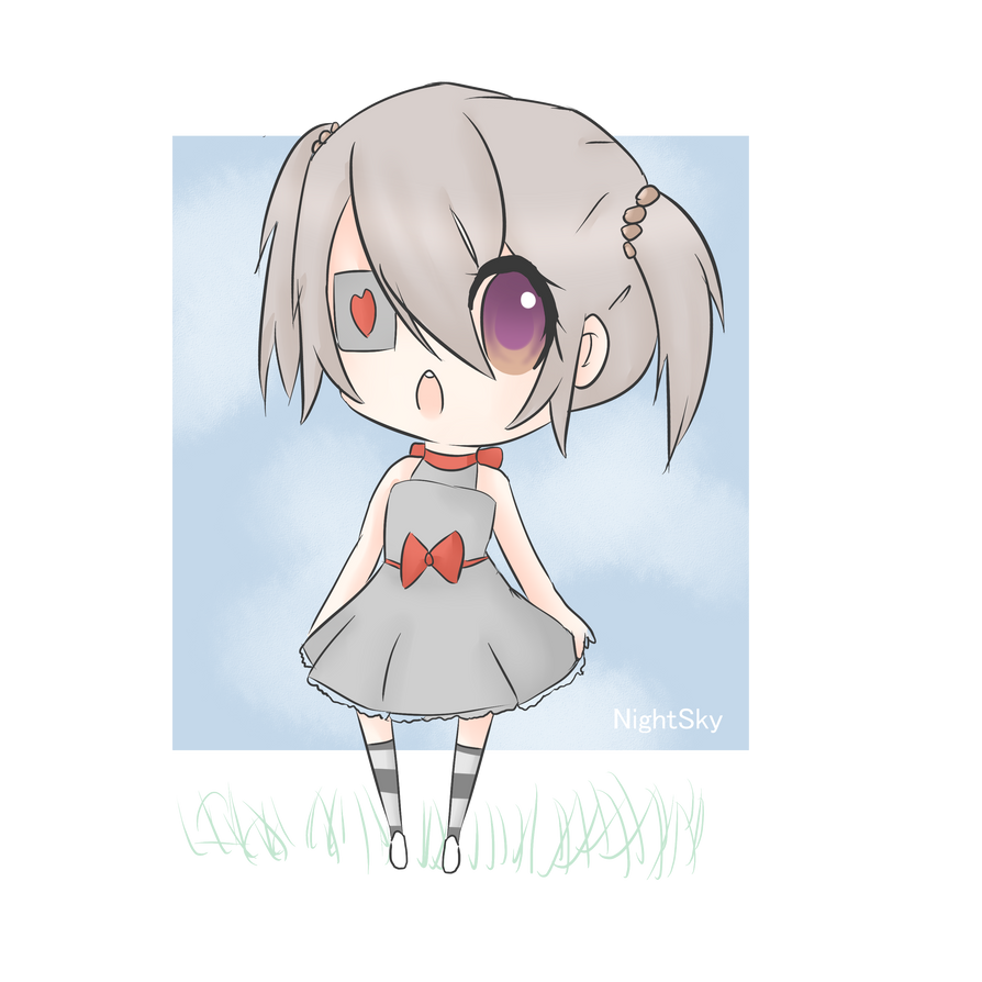 Depressed anime chibi