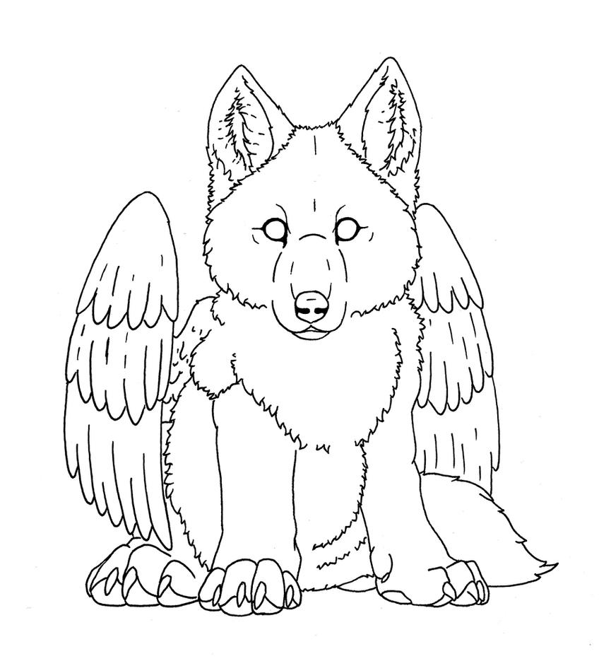 wolf for me - outline by EarthEvolution on DeviantArt