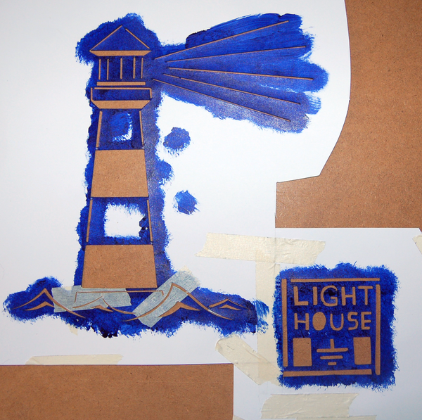 Lighthouse - Stencil by EarthEvolution
