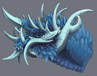 Blue Thorned Dragon by is-chimera