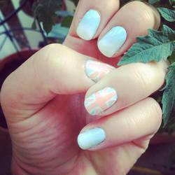 Pastel Union Jack Nails