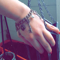 Handmade Steampunk Charm Bracelet
