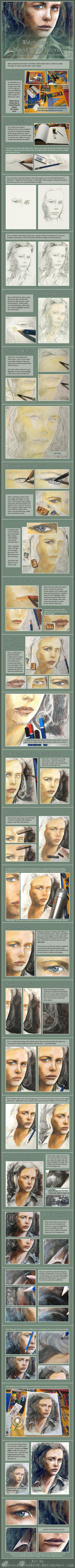 Watercolour Tutorial by RoryonaRainbow