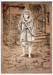 Match Girl Illustration 3 Ink