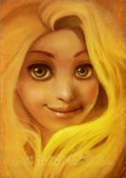 Golden Hair by RoryonaRainbow