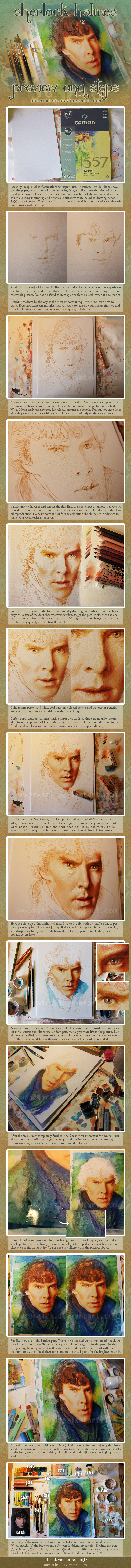 Sherlock Holmes Preview and Steps Tutorial by RoryonaRainbow