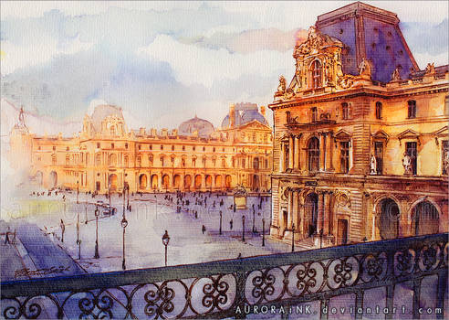 Louvre - Watercolor Study