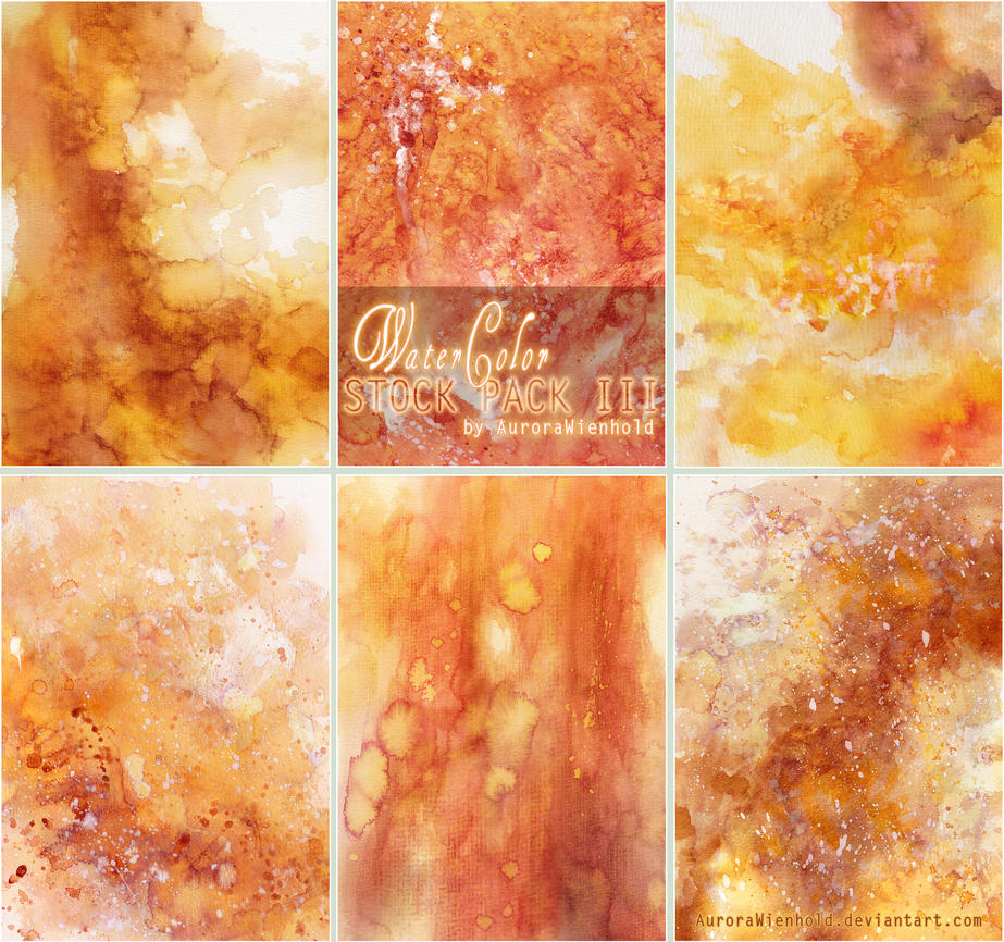 Watercolor Stock Pack 3 by AuroraWienhold