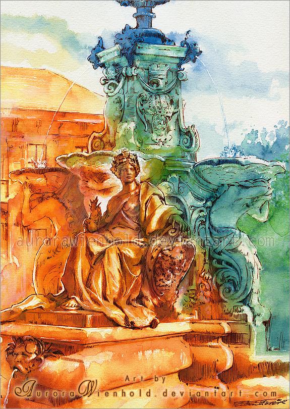 Pauline fountain by AuroraWienhold
