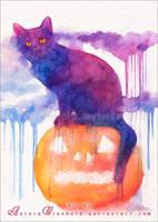 Halloween  cat by RoryonaRainbow