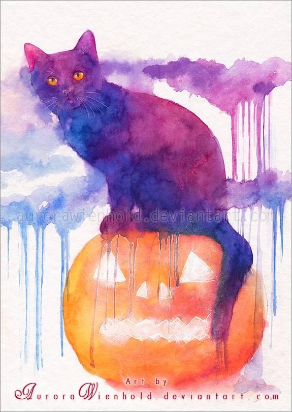 Halloween  cat by AuroraWienhold