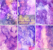 SHADES OF VIOLET - WATERCOLOR STOCK PACK VII by RoryonaRainbow
