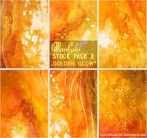 GOLDEN GLOW - WATERCOLOR STOCK PACK X