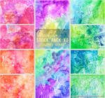 COLORED GLASS - WATERCOLOR STOCK PACK XI